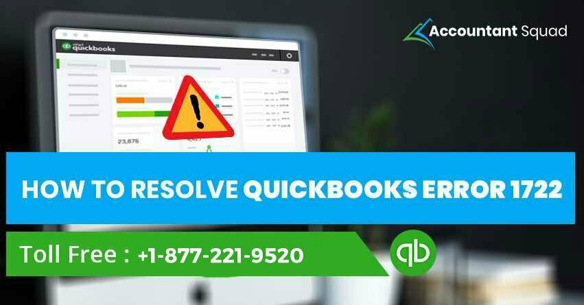 How To Resolve QuickBooks Error 1722