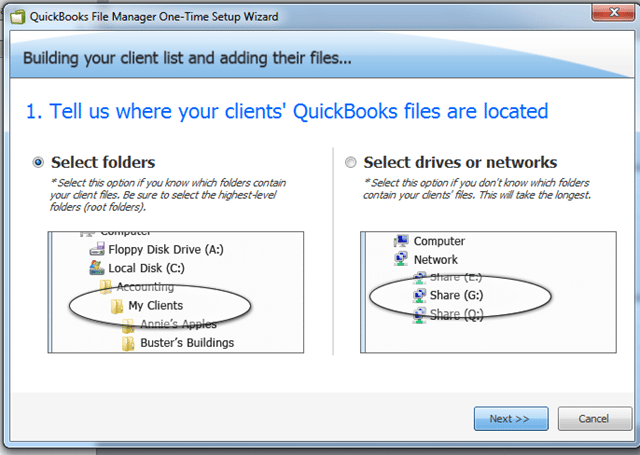 QuickBooks File Manager setup