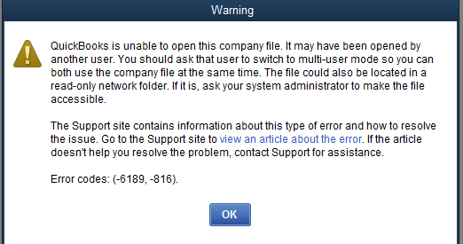 error 6189 quickbooks