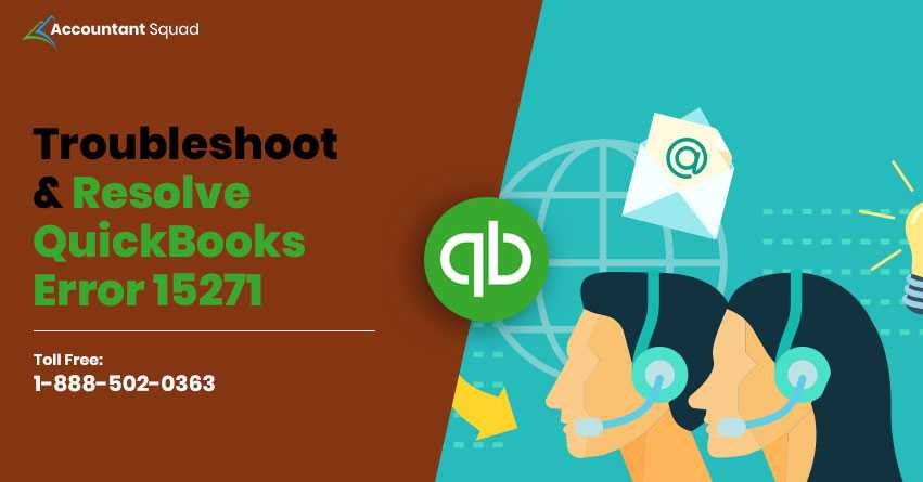 How to Fix QuickBooks Error 15271 - Accountantsquad.com