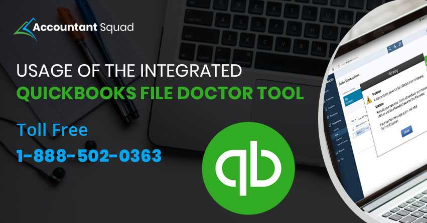usage of the integrated quickbooks file doctor tool