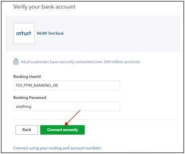 Sign in Verify bank account