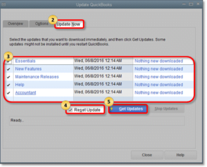 Updating the QuickBooks Software